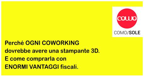 Perché ogni Coworking dovrebbe avere una stampante 3D