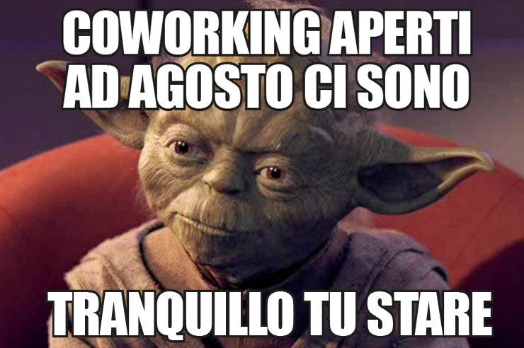 Coworking aperti in agosto in tutta italia